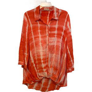 Just Living Size Large Button Down Pullover Top